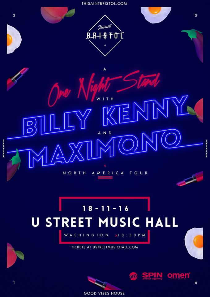 Billy Kenny with Maximono at U Street Music Hall 11/18