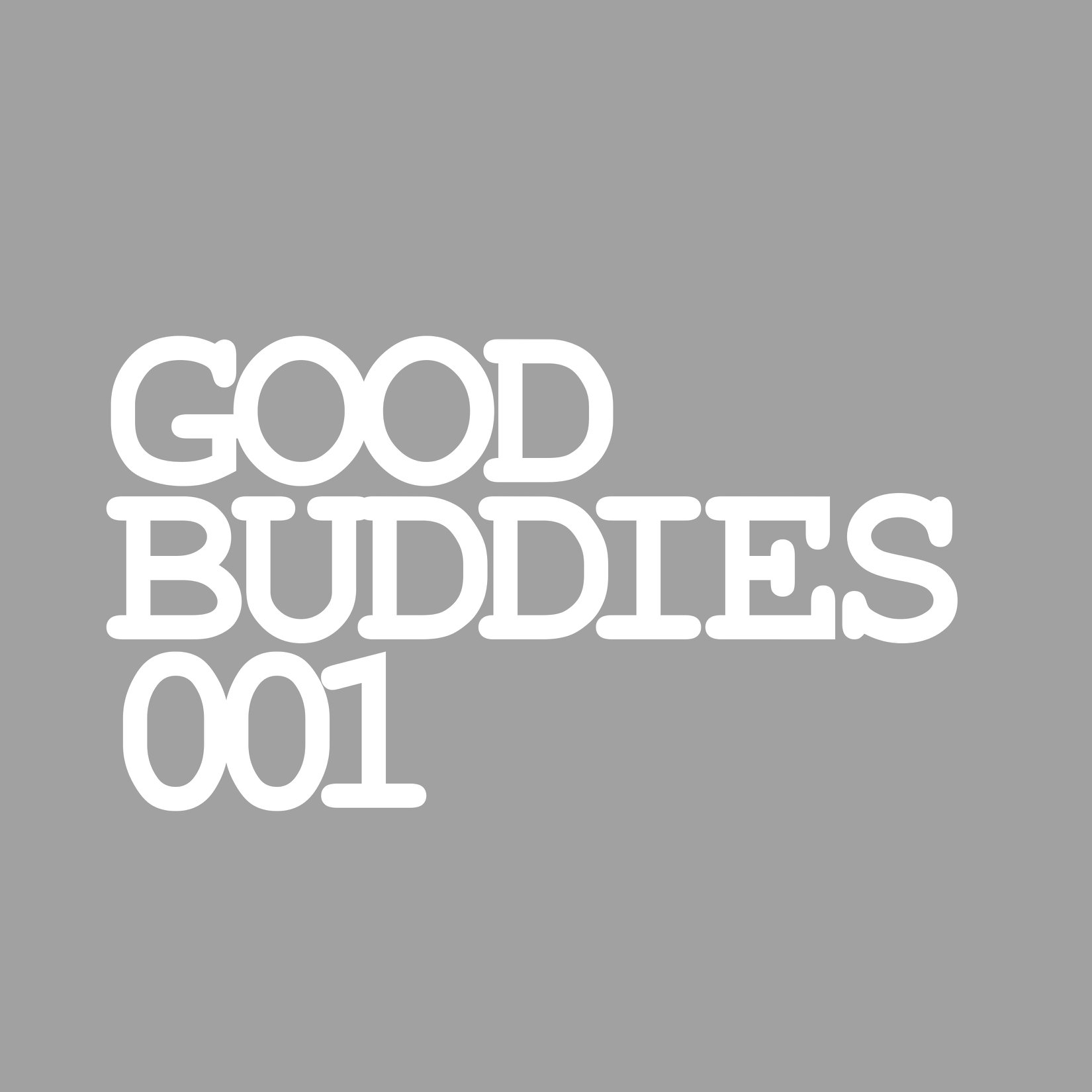 Good Buddies 001 Artwork