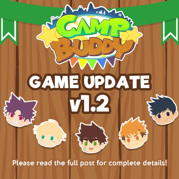 Camp Buddy Version 1.2 – LAUNCHED!