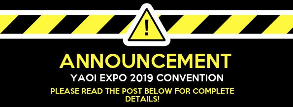 Announcement : YAOI EXPO 2019