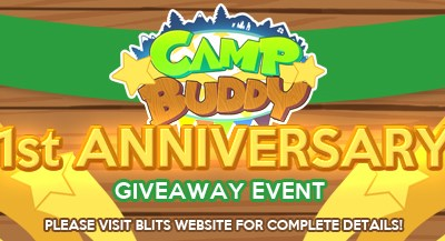 Camp Buddy Anniversary Giveaway
