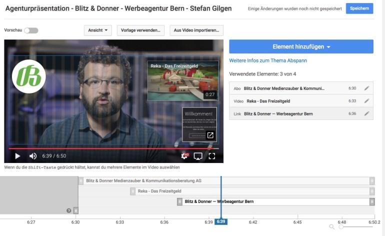 Abspann-Tool Youtube erklärt – der Editor
