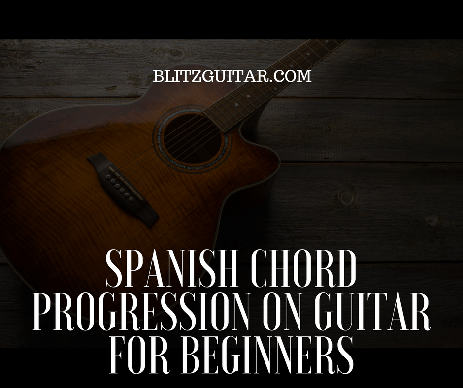 Fingerstyle Guitar. Spanish Chord Progression for Beginners
