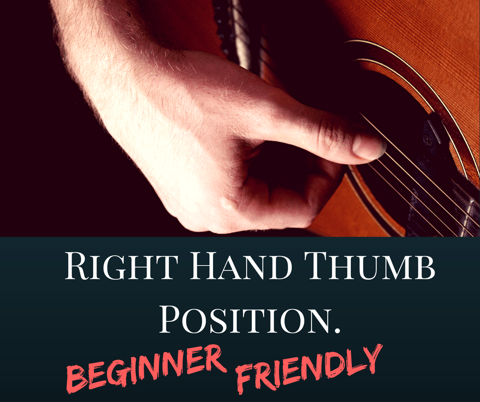 Fingerstyle thumb position guitar lesson for beginners