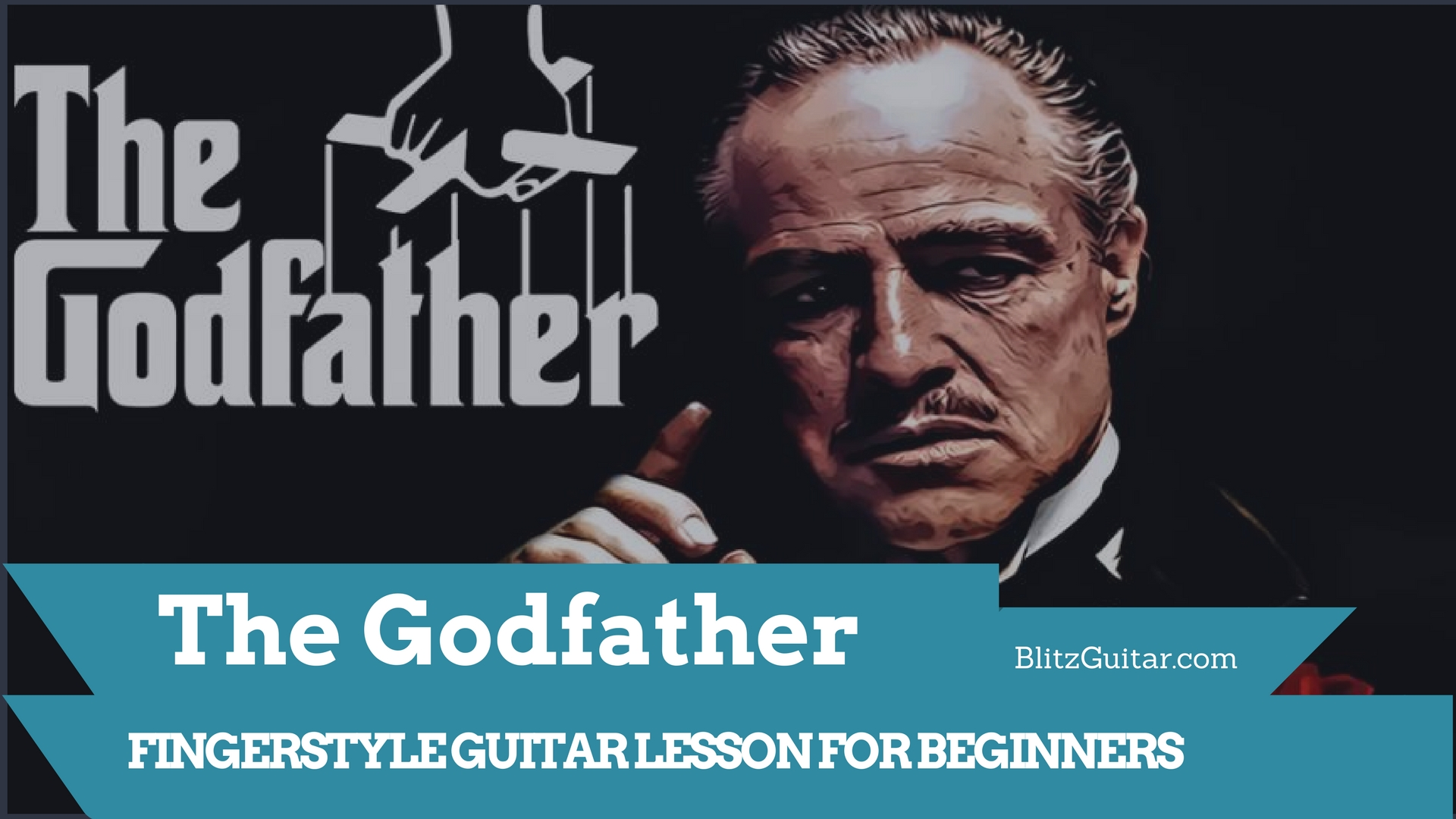 The Godfather music theme fingerstyle guitar lesson for beginners