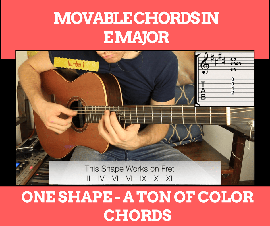 Movable Chords in E Major - One Chord a Ton of Color Chords
