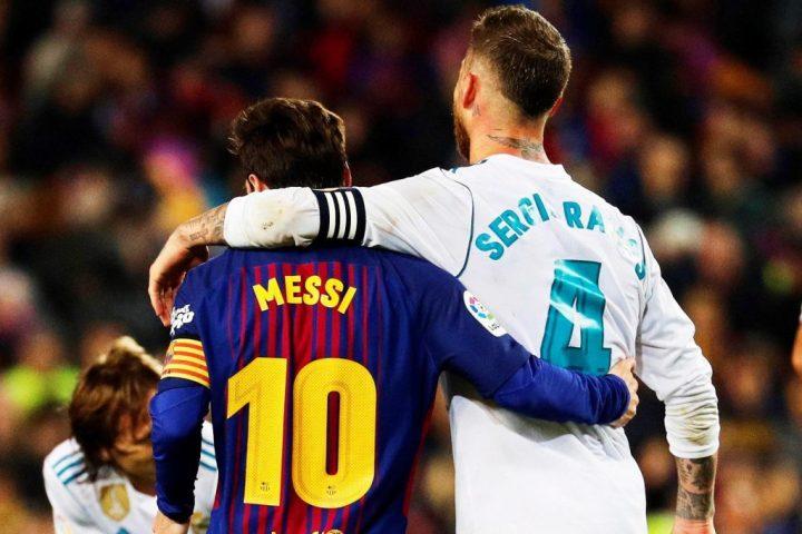 Messi e Sergio Ramos si abbracciano nel Clasico | numerosette.eu