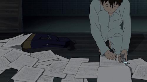 Kenji doing some friggin mathematics