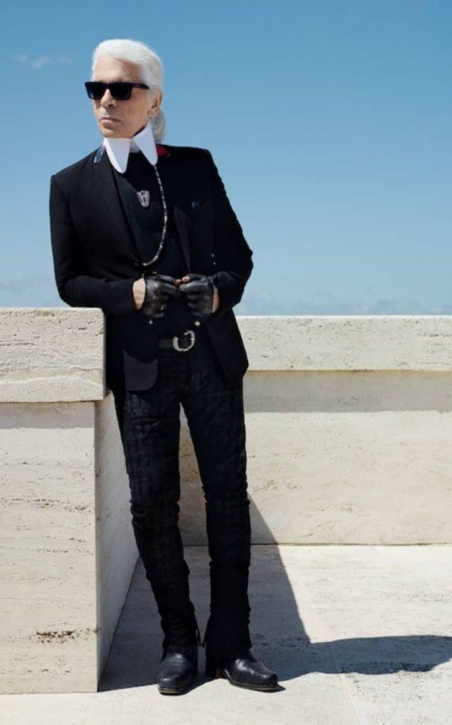 Karl Lagerfeld in Italia