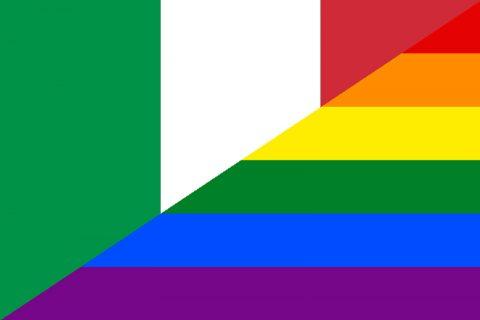 Italy rainbow flag