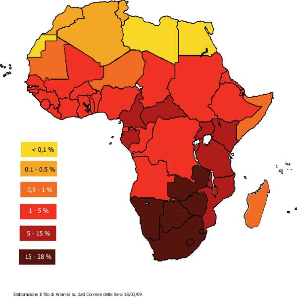 contagi hiv africa