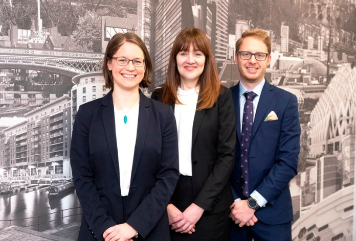 Trio promoted to partner at Yorkshire law firm