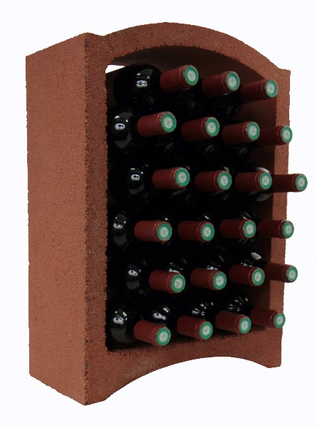 super red clay bottle wine rack