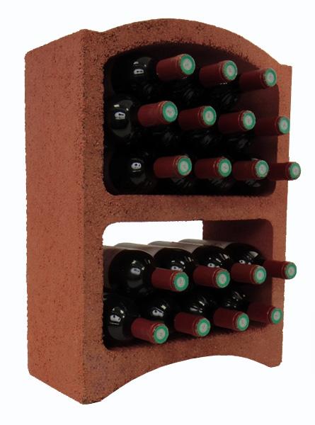 casier a bouteille de vin terre rouge 19 bouteilles standard