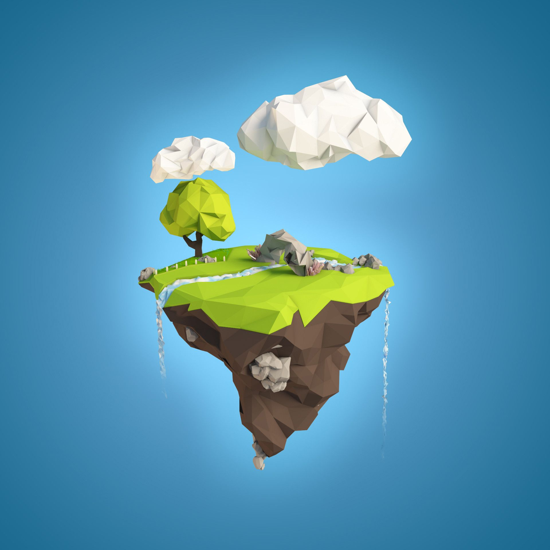 Floating Paper Island