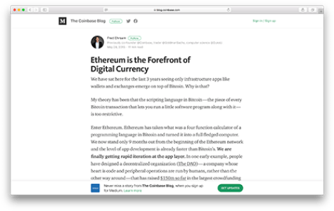 Ethereum is at the forefront of digital currency