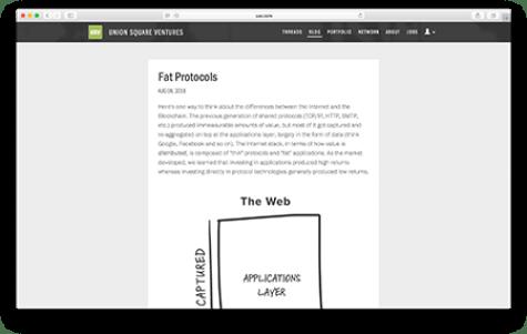 Fat Protocols