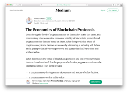 The Economics of Blockchain Protocols