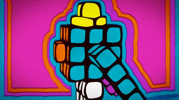 Rubik Blockman by Dan Marker-Moore