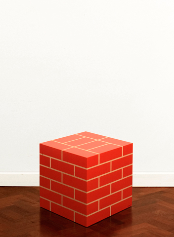Brick cube by James Joyce 2008