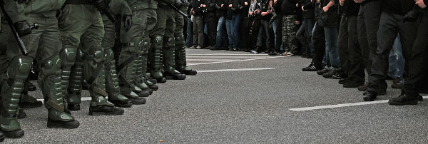 Green Bloc - Black Bloc - Rostock, Germany 2007
