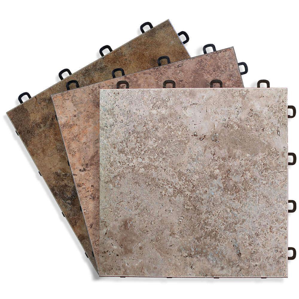sandstone vinyl top interlocking floor