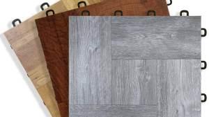 Wood Vinyl Top Interlocking Floor Tiles Great For