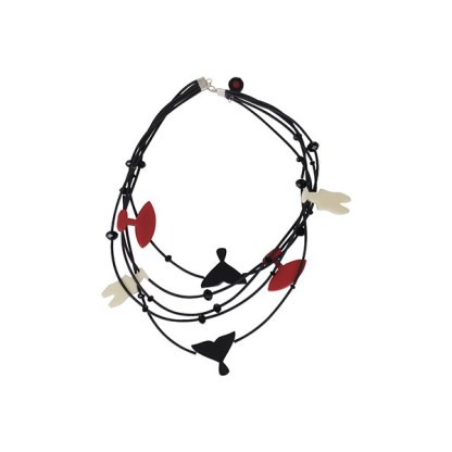 Id Inuit Ketting zwart rood wit