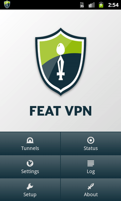 FeatVPN - main android screen
