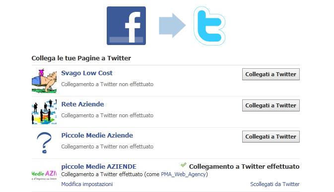 collegare facebook e twitter