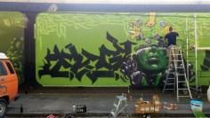 Work in Progress by Nasca, Fanta, Pyser und Eitel @Donnersbergerbrücke Part 4 - 2 von 4