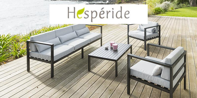hesperide mobilier de jardin table de jardin parasol deporte tendance et pas