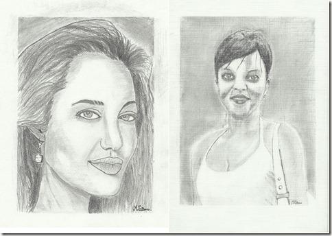 Correction des dessins au crayon a papier de marcel blog - Portrait dessin facile ...