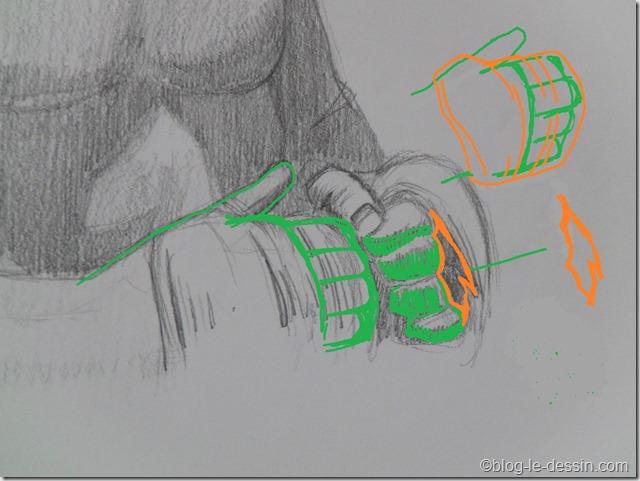 dessin main