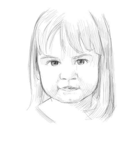 dessiner un portrait d'enfant