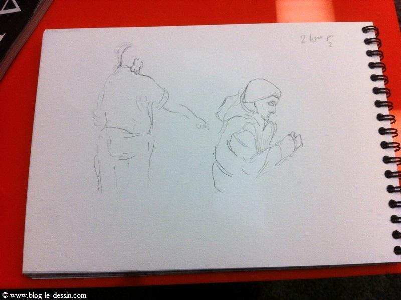 apprendre à dessiner sur le vif en utilisant le trait en couple
