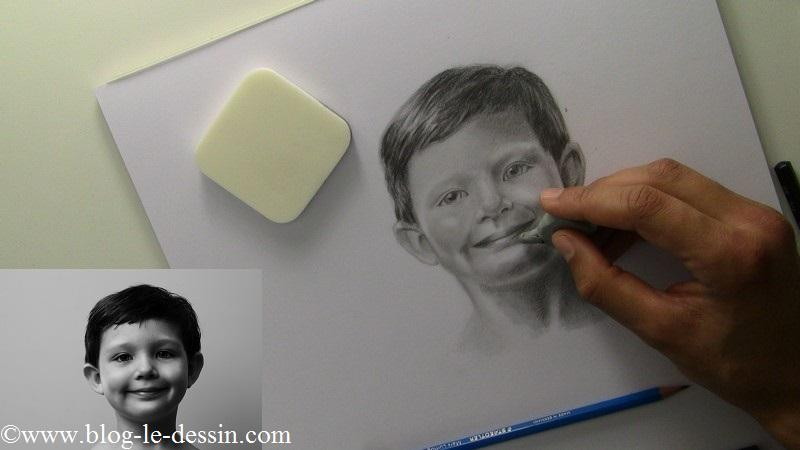 Ajouter des points de lumière pour finir de tracer le visage.