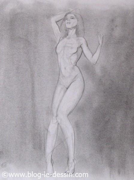 apprendre a dessiner une femme eclairage face