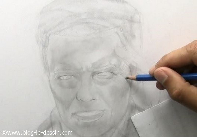 david bowie dessin etapes detail