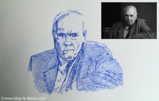 dessin stylo plume portrait rendu final
