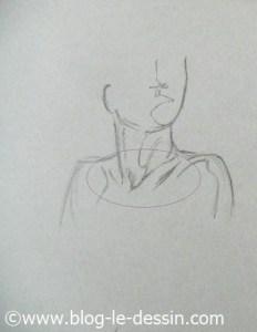 dessiner cou épaules clavicules