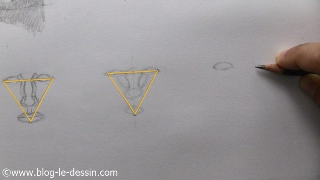 dessiner un visage proportions technique report mesure