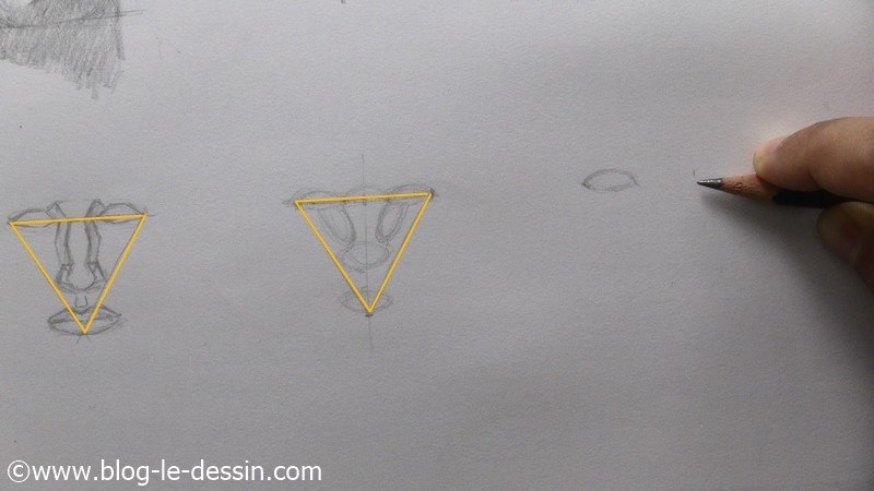dessiner un visage proportions technique report mesure