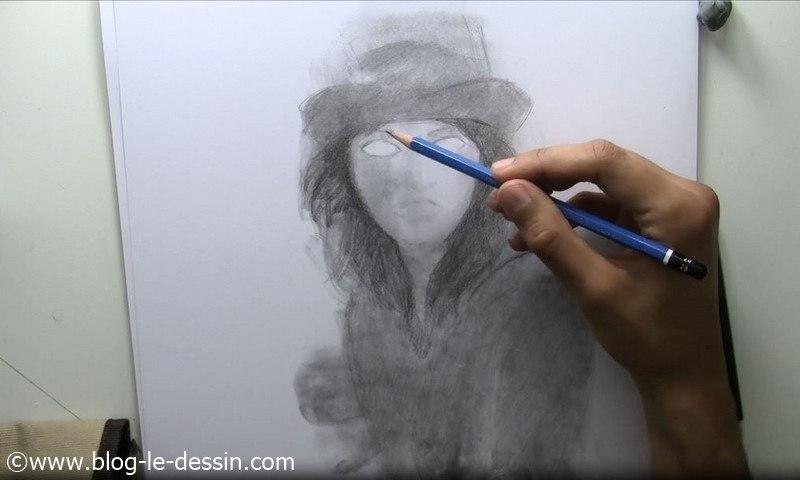 tutoriel dessiner visage fille details crayon 2B