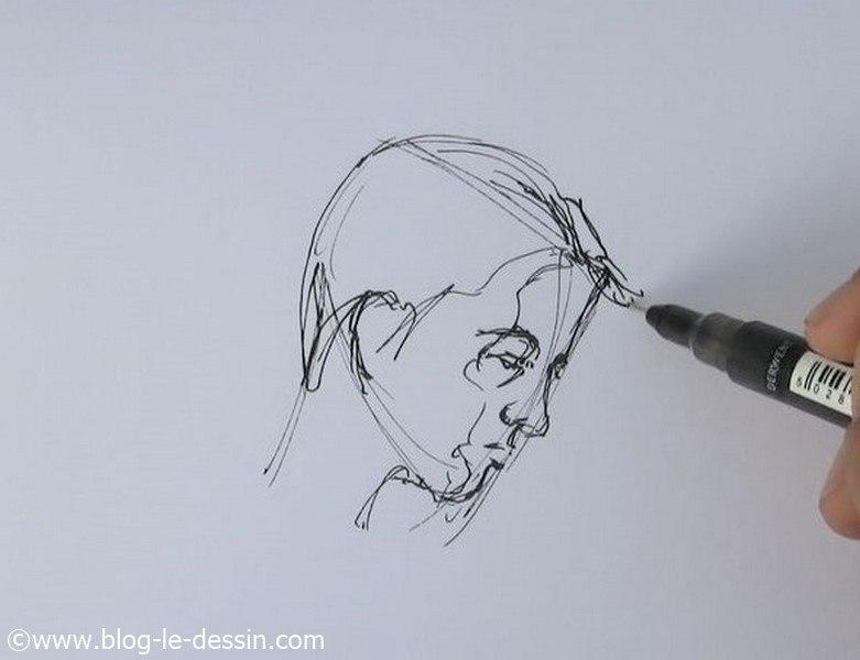 dessin portrait rapide 5