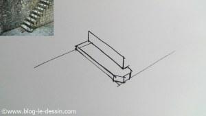 dessiner escalier seconde marche