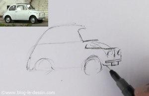 dessiner une voiture facile pare-choc