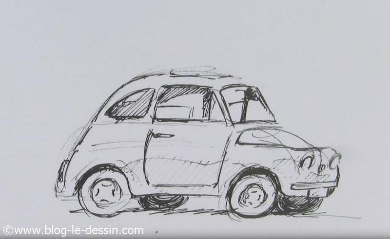 Dessiner une voiture la m thode facile - Voiture simple a dessiner ...