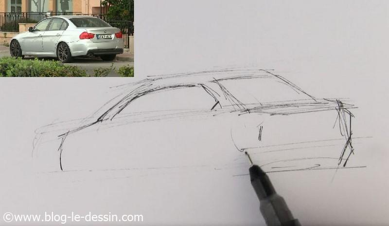 dessiner voiture sportive vitres laterales