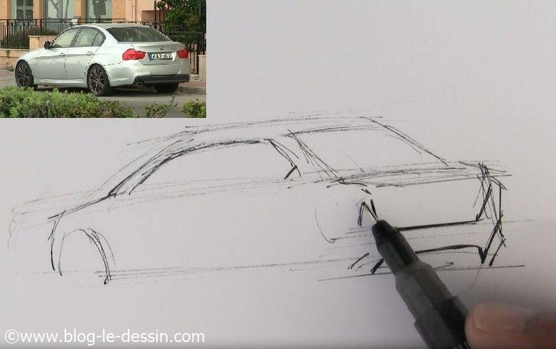dessiner voiture sportive facile pare choc
